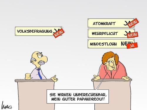 Merkel machts vor