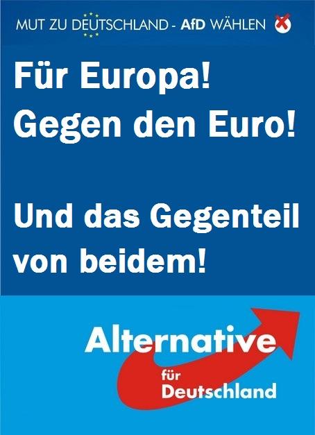 AfD Plakat Europawahl
