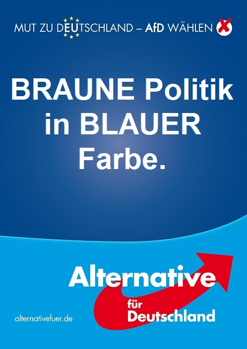 Europawahl AfD Plakat