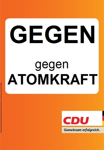 CDU Plakat Europawahl