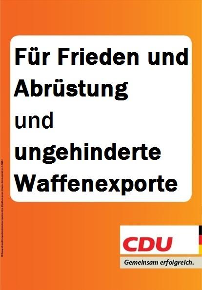 Europawahl CDU Plakat