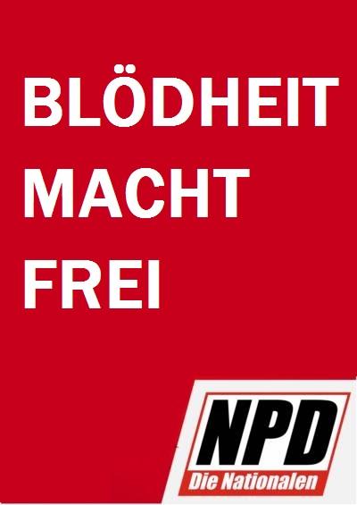 NPD Plakat Europawahl
