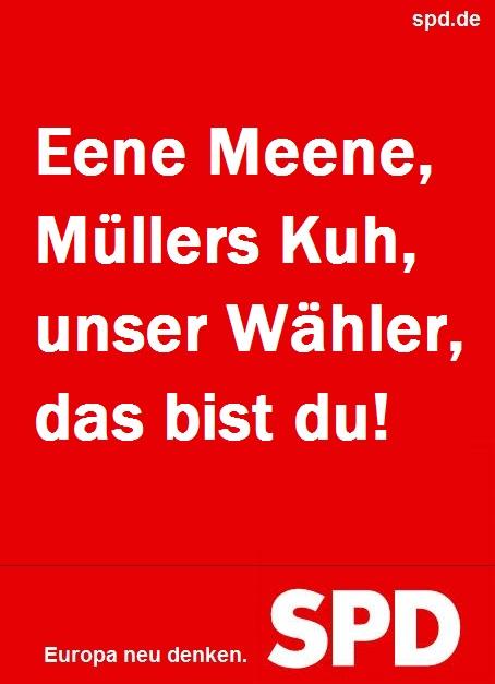 SPD Plakat Europawahl